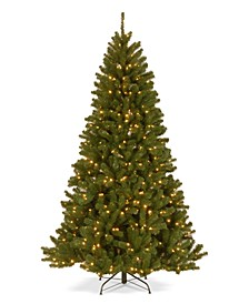 7.5' North Valley Spruce Hinged Tree with Dual Color LED Lights