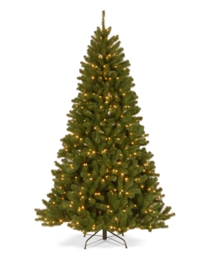 National Tree Company 75 North Valley Spruce Hinged Tree with Dual Color Led Lights