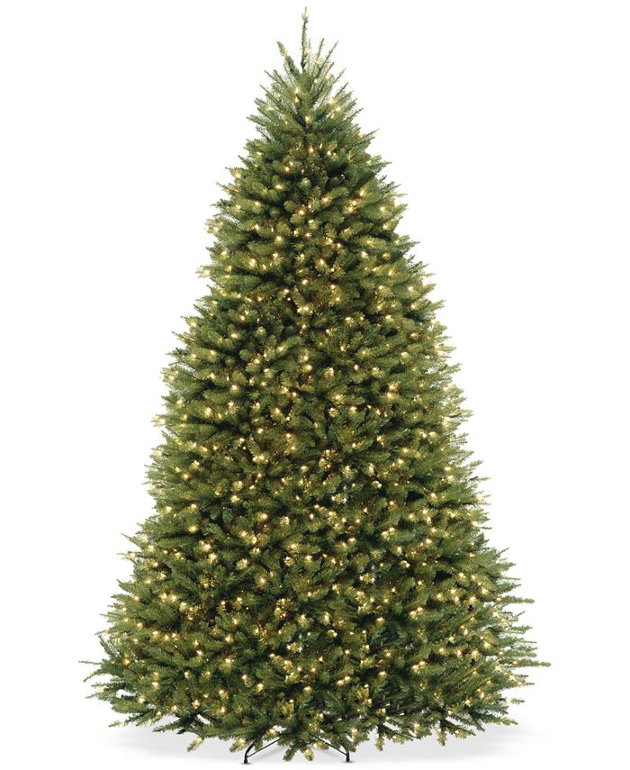 National Tree Company - 9' Dunhill Fir Full-Bodied & Hinged Tree With 900 Clear Lights