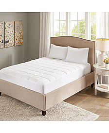 Sleep Philosophy Copper Infused Microfiber Down Alternative Mattress Pad