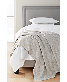 LAST ACT! Martha Stewart Collection Heathered Sweater Fleece Blanket, Created for Macy's