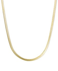 "14k Gold Necklace, 20"" Flat Herringbone Chain (1-1/4mm)"