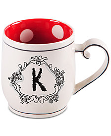 "Home Essentials Katie and Mandy Monogram ""K"" Mug"