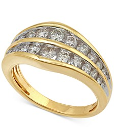 Diamond Channel Set Anniversary Band (1 ct. t.w.) in 14k Gold