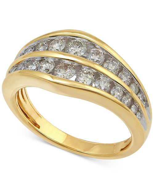 Macy's Diamond Channel Set Anniversary Band (1 ct. t.w.) in 14k Gold