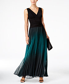 SL Fashions Ombré Pleated Gown