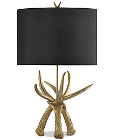 StyleCraft Deer Horn Table Lamp