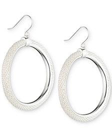 Lauren Ralph Lauren Silver-Tone Mesh Gypsy Hoop Earrings