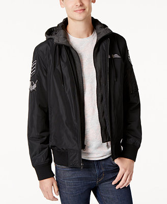 Men's Hooded Bomber Jacket, Created For Macy's by American Rag