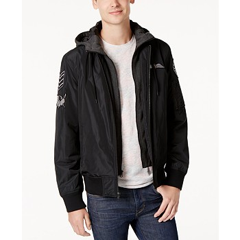 American Rag Men's Hooded Bomber Jacket