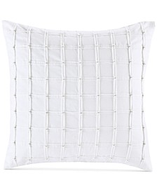"Shira Bow-Tie Pleated 20"" Square Decorative Pillow"