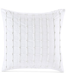 """INK+IVY Shira Bow-Tie Pleated 20"""" Square Decorative Pillow"""