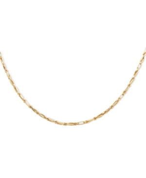 "24"" Baguette Chain Necklace in 14k Gold"