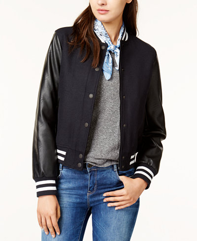 Levi's® Mixed-Media Bomber Jacket