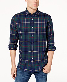 Men's Plaid Flannel Shirt, Created for Macy's