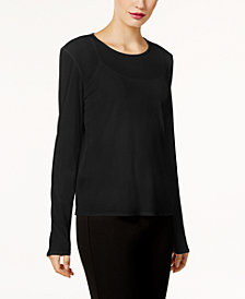 Eileen Fisher Silk Jersey Top, Regular & Petite