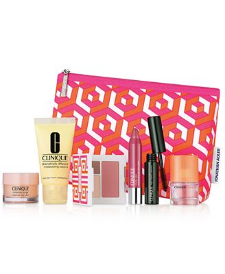 Choose your FREE 7-Pc. gift with any $28 Clinique purchase (A $75 Value), created for Macy's!