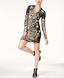 Just Cavalli Printed Bodycon Dress