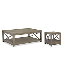 Rachael Ray Highline Occasional Table Furniture, 2-Pc. Set (Coffee Table & End Table)