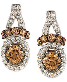 Le Vian Chocolatier® Diamond Drop Earrings (7/8 ct. t.w.) in 14k White Gold