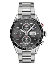 9c6b695af6f TAG Heuer Men s Swiss Automatic Chronograph Carrera Steel Bracelet Watch  43mm