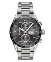 1b75f9129fb TAG Heuer Men s Swiss Automatic Chronograph Carrera Steel Bracelet Watch  43mm