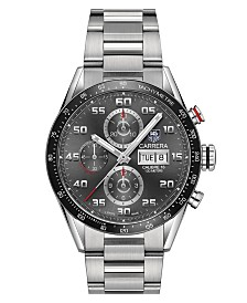TAG Heuer Men's Swiss Automatic Chronograph Carrera Steel Bracelet Watch 43mm