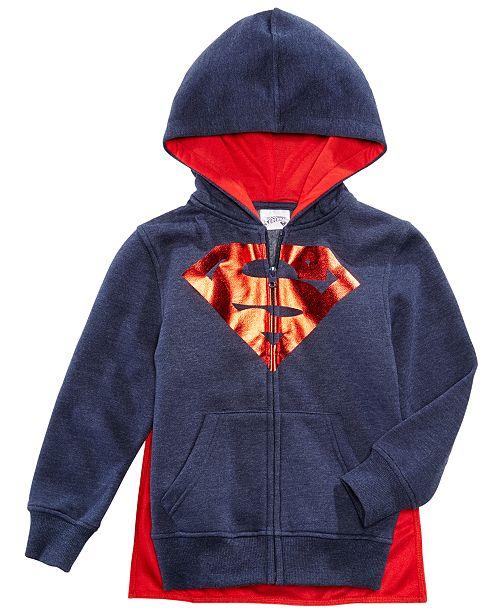 f946cb1fdbdb ... DC Comics Superman Front-Zip Hoodie