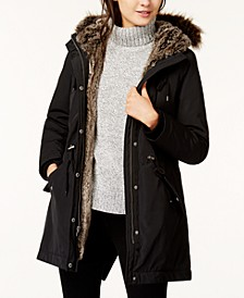 Women's Arctic Cloth Faux-Fur-Trim Parka