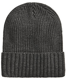Club Room Men's Solid Cuff Hat, Created for Macy's