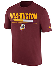 Nike Men's Washington Redskins Legend Staff T-Shirt