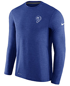 Nike Men's Los Angeles Rams Alternate Coaches Long Sleeve T-shirt