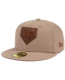 New Era Oakland Athletics The Logo of Leather 59FIFTY Fitted Cap