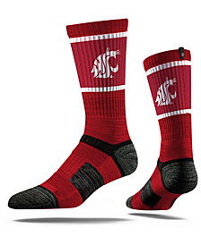 Strideline Washington State Cougars Crew Socks II