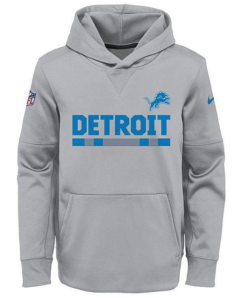 cheap for discount 6bf4d fadbc Nike Detroit Lions Pullover Therma Hoodie, Big Boys (8-20 ...