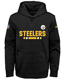 Nike Pittsburgh Steelers Pullover Therma Hoodie, Big Boys (8-20)