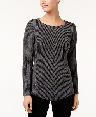 Style Co Multi Directional Ribbed Sweater Created For Macys