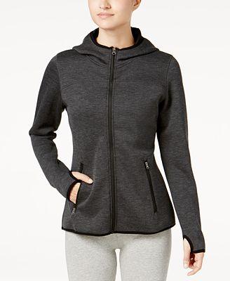 32 Degrees Tech Fleece Hooded Jacket - Jackets - Women - Macy's