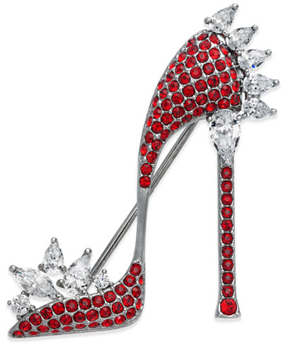 Danori Silver-Tone Pavé High Heel Pin, Created for Macy's