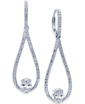Silver-Tone Elongated Teardrop Drop Earrings, Created for Macy's