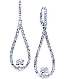 Danori Silver-Tone Elongated Teardrop Drop Earrings, Created for Macy's