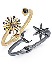 I.N.C. 2-Pc. Set Astronomical Pavé Crystal Hinged Bracelets, Created for Macy's