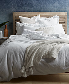 Lucky Brand Ventura Waffle Duvet Cover Sets, Created for Macy's