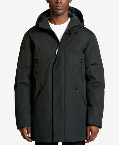 DKNY Men's Hooded Logo Parka - Coats & Jackets - Men - Macy's