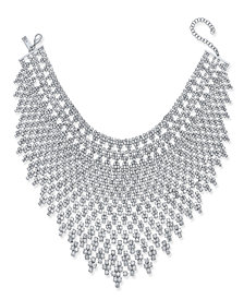 I.N.C. Silver-Tone Draped Choker Statement Necklace, Created for Macy's