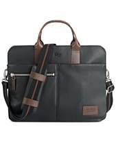 9f5f61bbdc0e Solo Men s Brookfield Leather Slim Briefcase