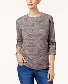 Sport Space-Dye Microfleece Top, Created for Macy's