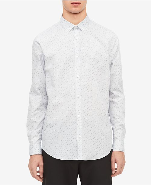 Calvin Klein Men's Non-Iron Triangle-Print Shirt