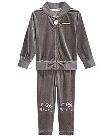 Hello Kitty 2-Pc. Velvet Jacket & Leggings Set, Baby Girls