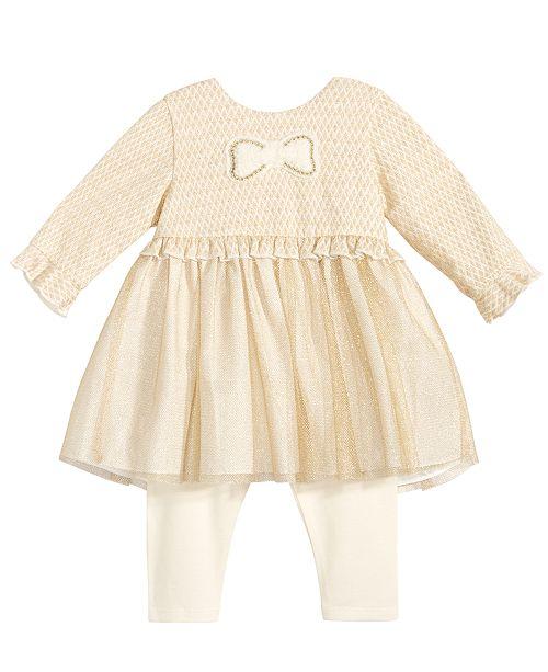 Marmellata 2-Pc. Ruffle-Trim Tunic & Leggings Set, Baby Girls